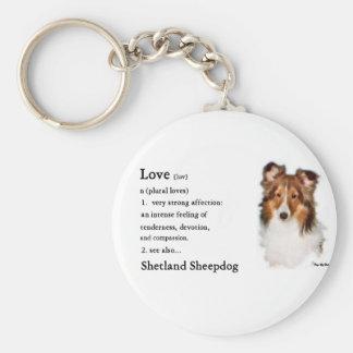 Shetland Sheepdog Sheltie Gifts Basic Round Button Keychain