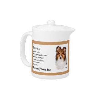 Shetland Sheepdog Sheltie Lovers Gifts Teapot