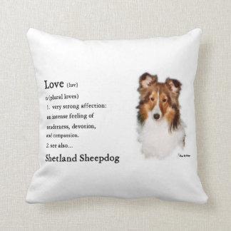 Shetland Sheepdog Sheltie Lovers Gifts Throw Pillow