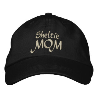 Shetland Sheepdog Sheltie MOM Gifts Embroidered Baseball Hat
