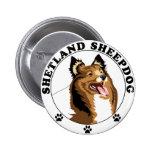 Shetland Sheepdog - Sheltie Pinback Buttons