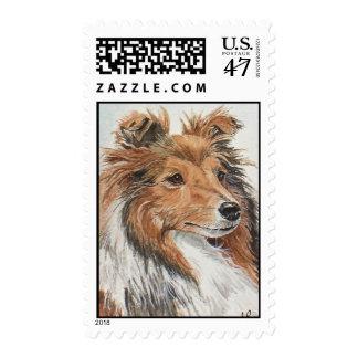 "Shetland Sheepdog ""Sheltie"" Postage Stamps"
