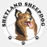 Shetland Sheepdog - Sheltie Round Sticker