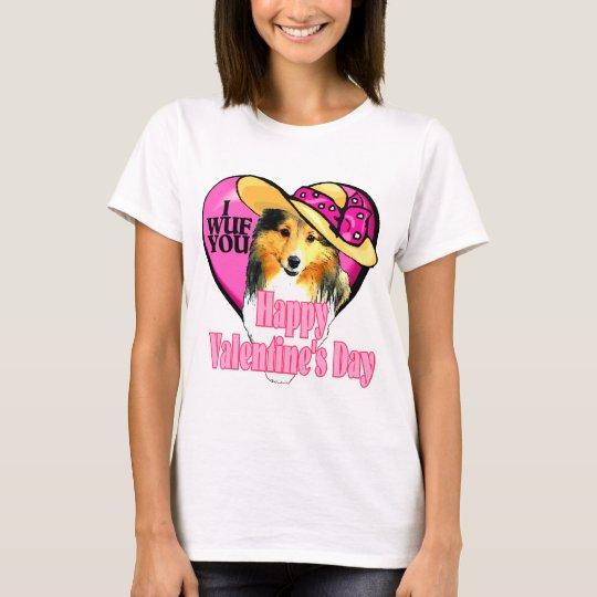 Shetland Sheepdog Sheltie Valentines T-Shirt