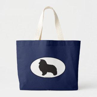 Shetland Sheepdog Silhouette Bags