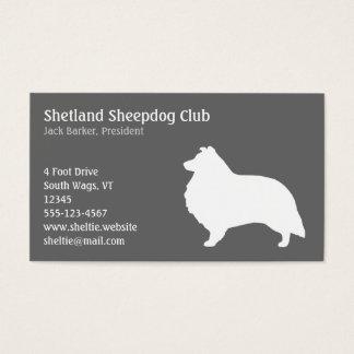 Shetland Sheepdog Silhouette Business Card