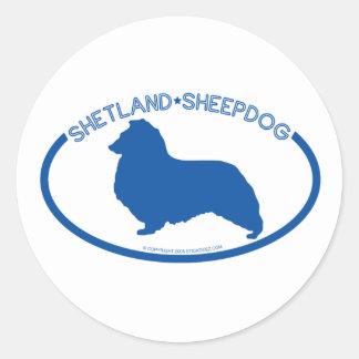 Shetland Sheepdog Silhouette Sticker