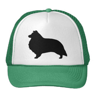 Shetland Sheepdog Silhouette Trucker Hat