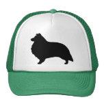 Shetland Sheepdog Silhouette Trucker Hats