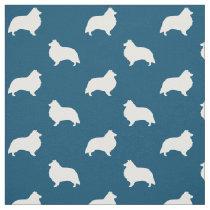 Shetland Sheepdog Silhouettes Pattern Fabric