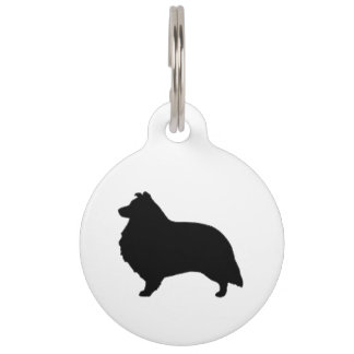 shetland sheepdog silo black pet ID tag