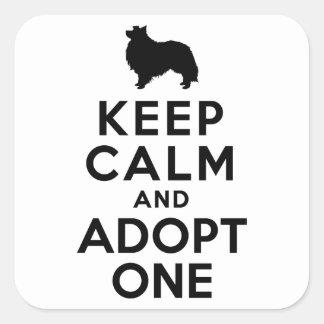 Shetland Sheepdog Square Sticker