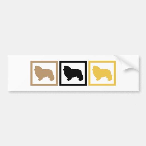 Shetland Sheepdog Squares Bumper Sticker