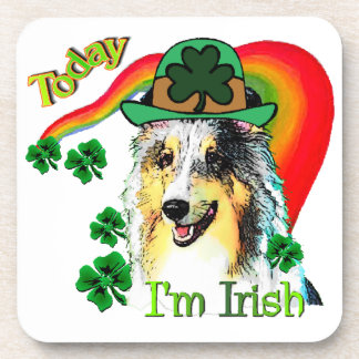 Shetland Sheepdog St Patricks Drink Coaster