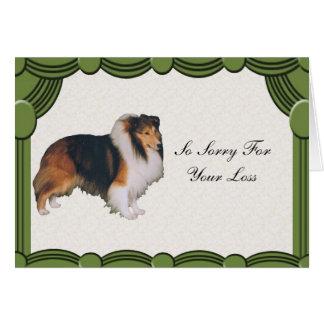 Shetland Sheepdog, Sympathy Card
