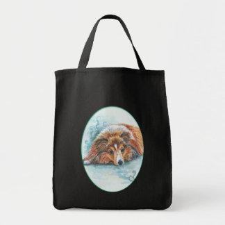 Shetland Sheepdog Tote Bags