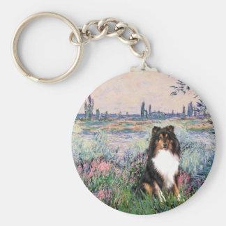 Shetland Sheepdog (Tri) - By the Seine Basic Round Button Keychain