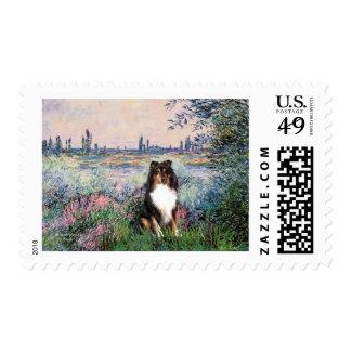 Shetland Sheepdog (Tri) - By the Seine Postage Stamp