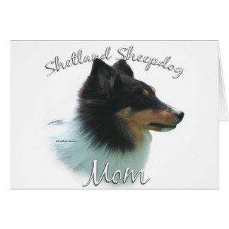 Shetland Sheepdog (tri) Mom 2 Greeting Card