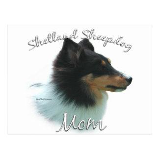 Shetland Sheepdog (tri) Mom 2 Postcard