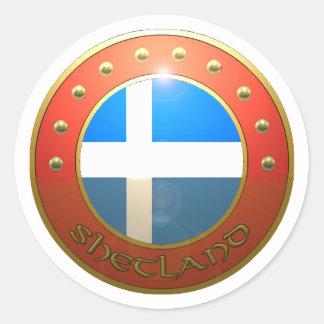 Shetland shield classic round sticker
