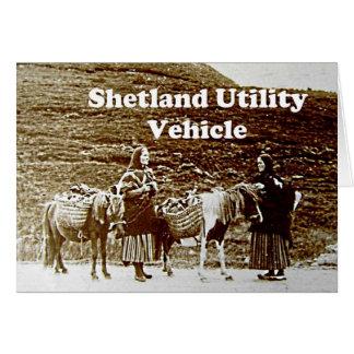 Shetland Utility Vehicle SUV Funny Vintage Photo Cards
