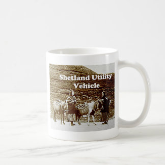 Shetland Utility Vehicle SUV Funny Vintage Photo Coffee Mug