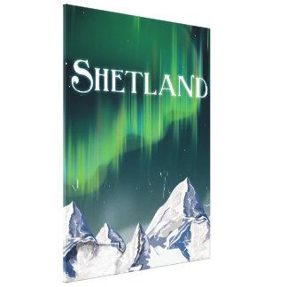 Shetland Vintage Travel Poster Canvas Print