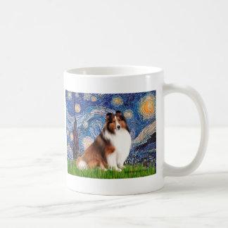 Shetlanld Sheepdog 7 - Starry Night Classic White Coffee Mug