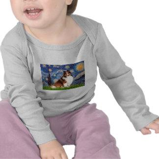 Shetlanld Sheepdog 7 - Starry Night Tshirts