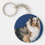 Shetlie (Merle) Basic Round Button Keychain