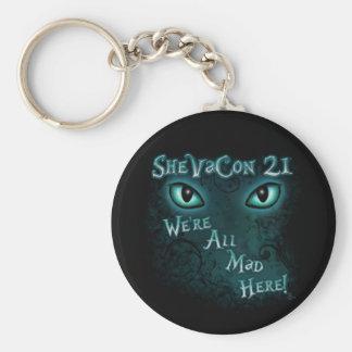 """SheVaCon 21 - """"somos todos aquí"""" llavero enojado"""
