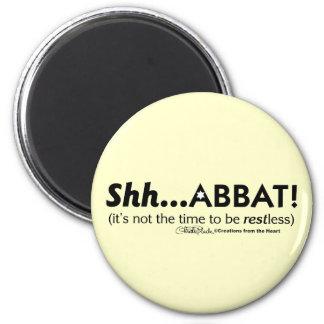 ¡Shh… abbat! Imán Redondo 5 Cm