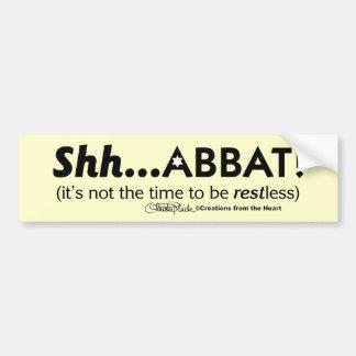 ¡Shh… abbat! Pegatina Para Auto