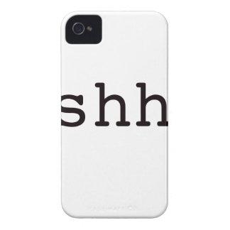 Shh. Black Blue Red Case-Mate iPhone 4 Case
