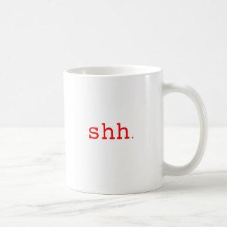 Shh. Black Blue Red Mugs