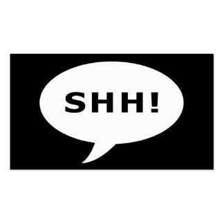 ¡shh! burbuja cómica del fiesta de sorpresa tarjetas de visita