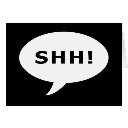 ¡SHH! burbuja que habla Tarjetón