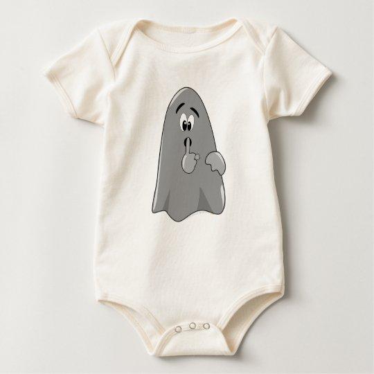 Shh Cartoon Ghost Cute Secret  Halloween Baby Bodysuit