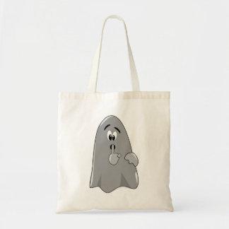 Shh Cartoon Ghost Cute Secret  Halloween Tote Bags