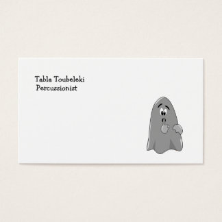 Shh Cartoon Ghost Cute Secret  Halloween Business Card