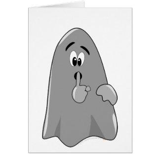 Shh Cartoon Ghost Cute Secret  Halloween Card