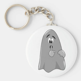 Shh Cartoon Ghost Cute Secret  Halloween Keychain
