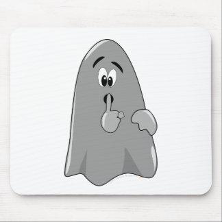 Shh Cartoon Ghost Cute Secret  Halloween Mouse Pad