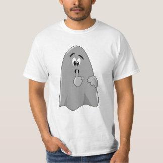 Shh Cartoon Ghost Cute Secret  Halloween T-Shirt