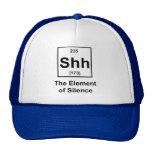 Shh, el elemento del silencio gorras