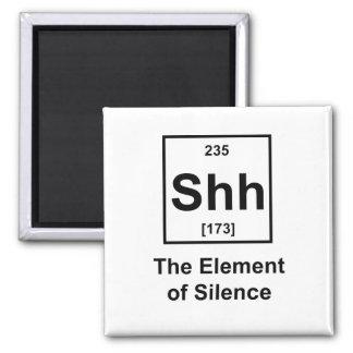 Shh, el elemento del silencio imanes