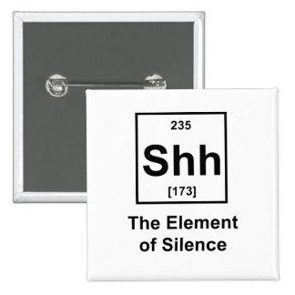 Shh, el elemento del silencio pins