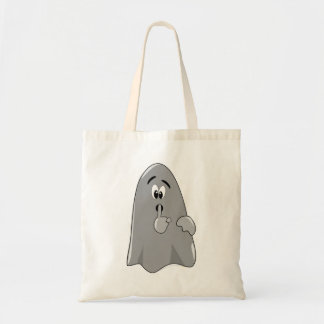 Shh fantasma Halloween secreto lindo del dibujo an Bolsas De Mano
