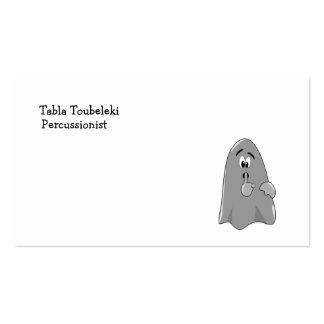 Shh fantasma Halloween secreto lindo del dibujo an Tarjeta De Visita